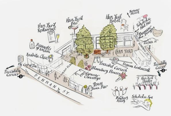 Ham Yard Firmdale Map